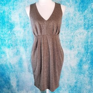 Twenty One Glittery Gold Bronze Ruched Dress